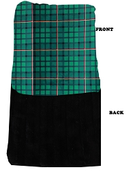 Luxurious Plush Carrier Blanket Green Plaid